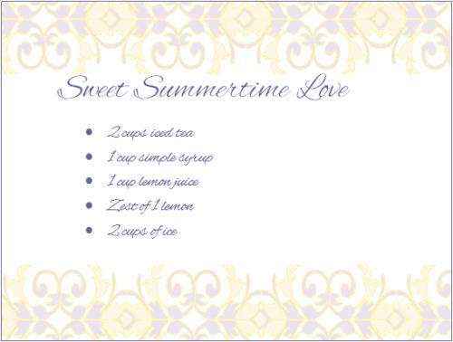 Sweet Summertime Love
