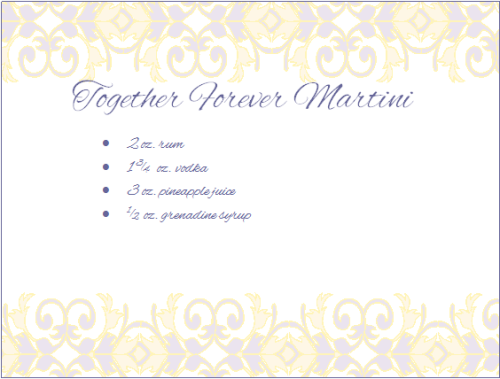 Together Forever Martini