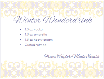 Winter Wonderdrink