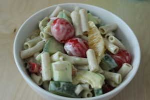 Creamy Avocado and Orange Pasta Salad