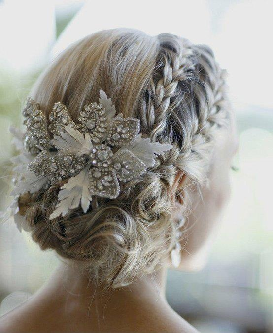 Wedding hairstyles with braids and