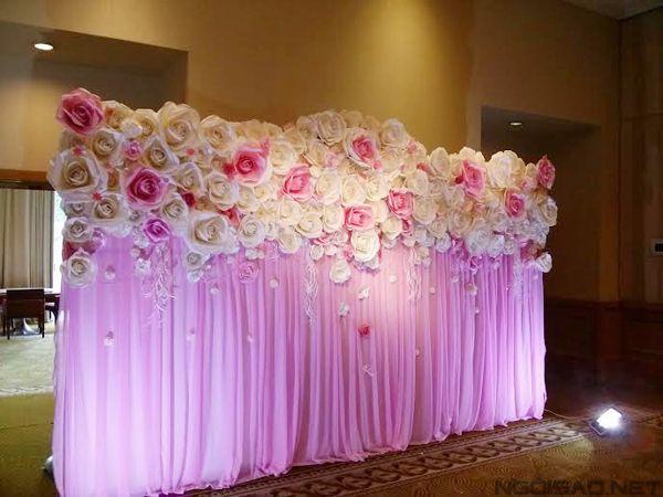 16 Stunning Paper Flower Backdrops 5612473539